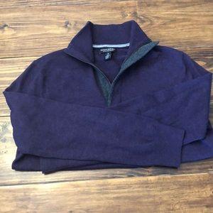 Banana Republic quarter zip sweater
